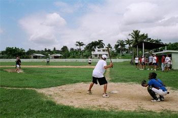 A game with the locals instead of television?