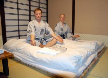 The Ryokan Kangetsu and traditional bathrobes
