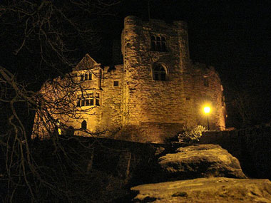 The Black Lady ghost was photographed in the castle in the 1940s