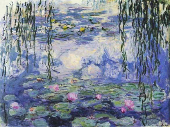 Monet suffered from cataracts when he completed many of the Water Lilies paintings