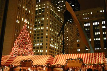 as the largest traditional german market outside of germany chicagos chriskindlmarket packs a punch the juxtapose of the chicago picasso modern lines - Chicago Christmas Market