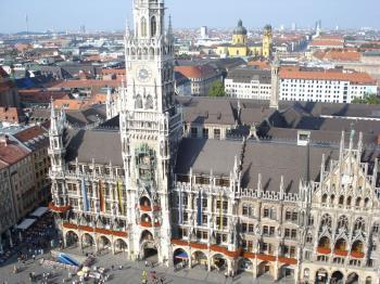 Marienplatz from St. Peter's tower