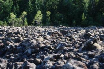 One of the many lava beds along the Nisga'a Highway. Photo by sagmeister.ca