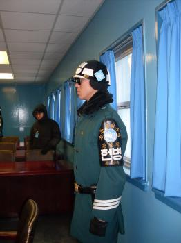 UN/South Korean soldier in Tae-kwon-do stance