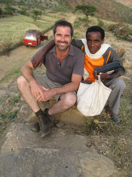 Don with an Ethiopian pal