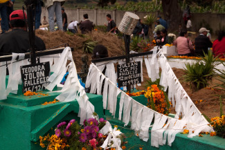 Decorated Graves in Santiago Sacatepeques