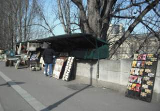 Bouqinistes along the Seine