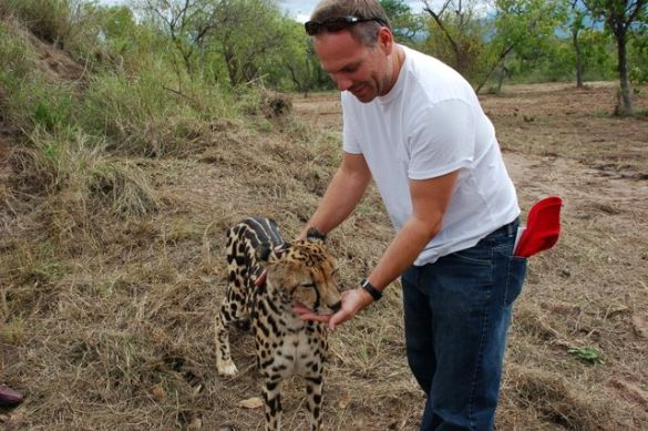 """With a """"good kitty"""" in South Africa"""