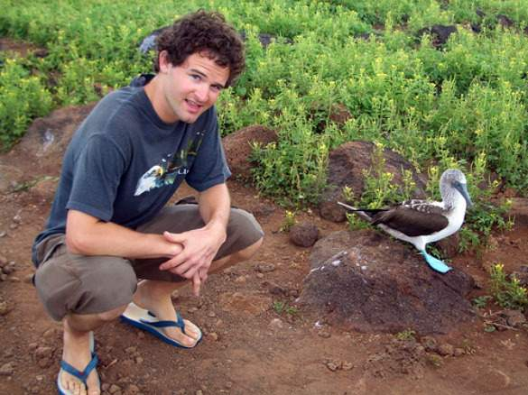 Hanging with blue-footed boobies in the Galapagos