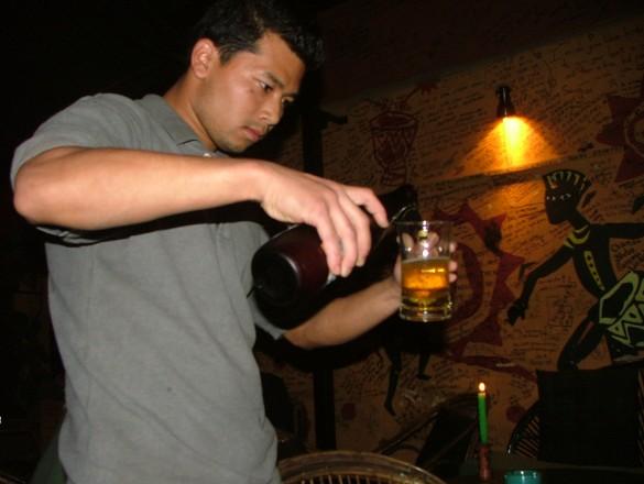 Everest beer flowing at Sam's