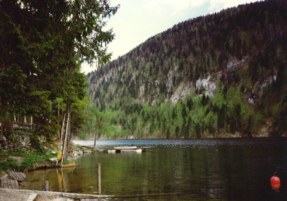 Toplitzsee - the Nazis dumped fake British currency here at the end of World War II
