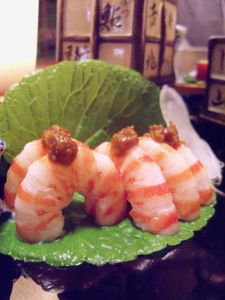 Shrimp with miso paste