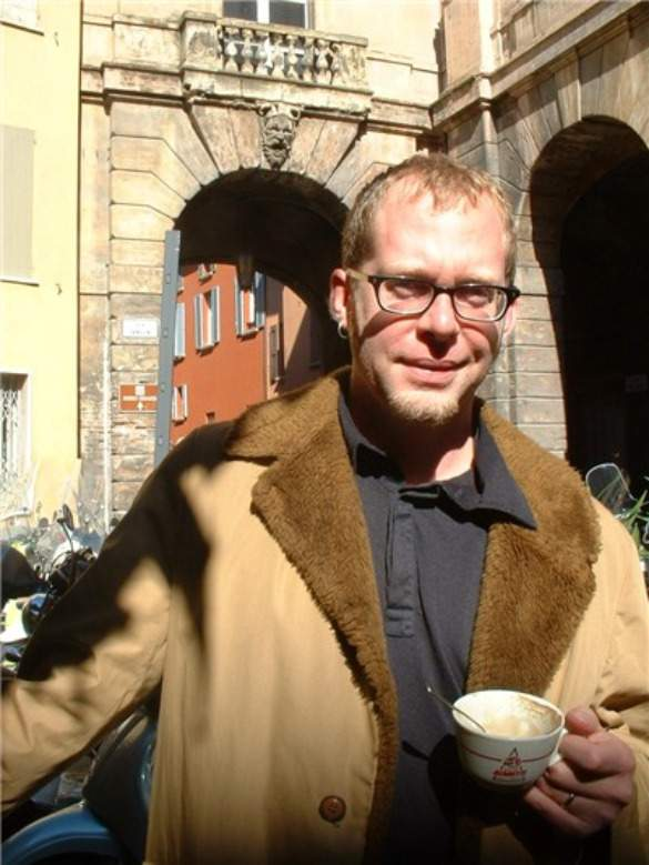 Morning capuccino in Bologna, Italy