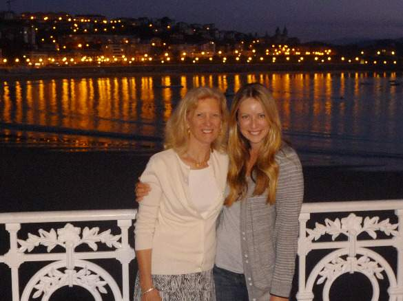 Robin and her mom in San Sebastian, Spain
