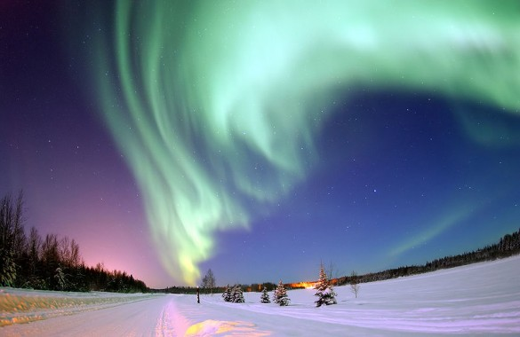 The Aurora Borealis (Northern Lights.)