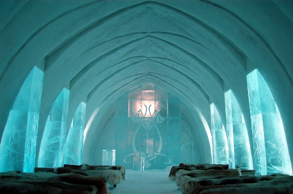 The Ice Hotel Is An Attraction In Itself But It Also Ideal For Viewing Northern Lights As Name States A Made Entirely Of Frozen