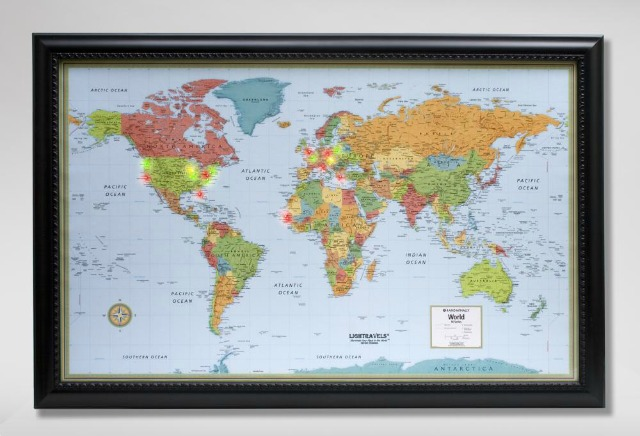 Gift guide 17 gifts for indie travelers bootsnall travel articles use lighted pegs to map your travels 249 from rand mcnally gumiabroncs Images