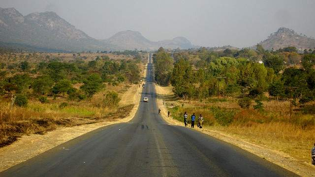 road in Malawi