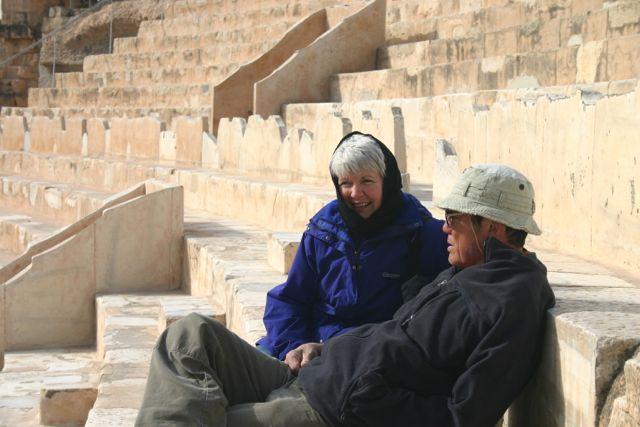 Jenn's parents in Tunisia