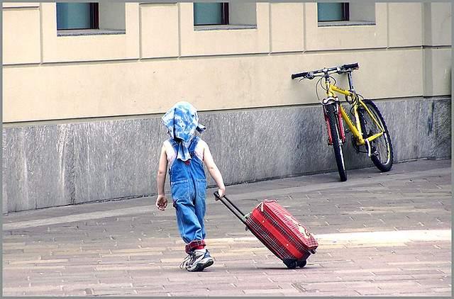 backpacking kid