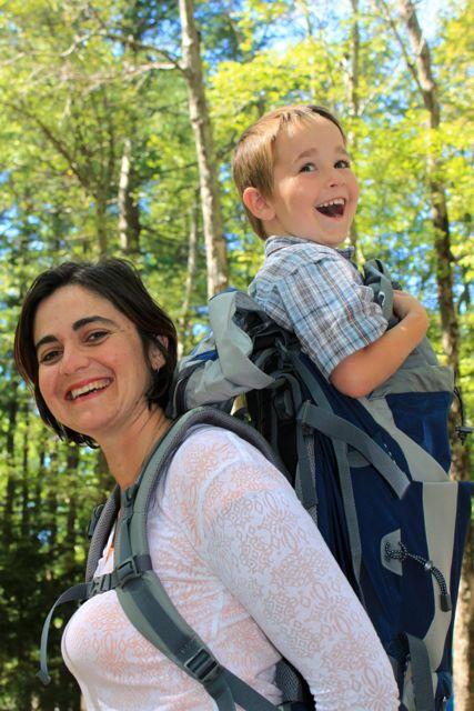 Kid in backpack