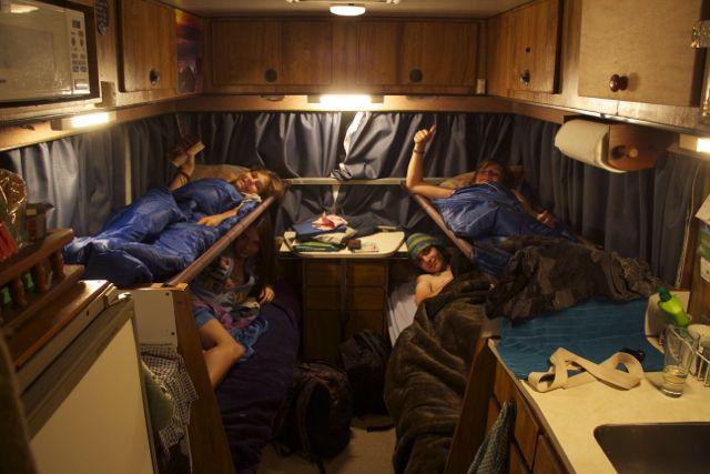 Sleeping in RV