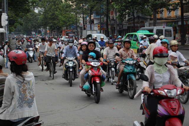 Traffic in Saigon, Vietnam