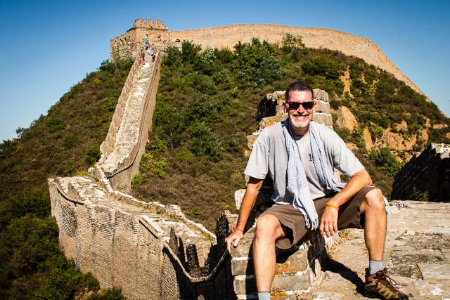 Jonathan Look-Hiking on the Great Wall of China