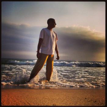 Jonathan Look on a Beach in Cambodia