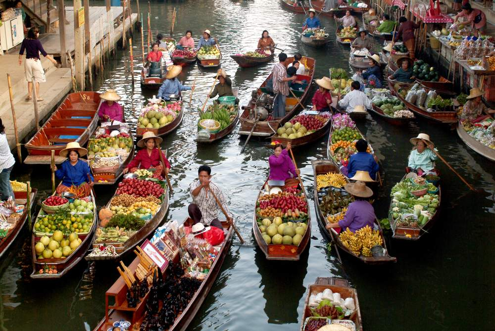 local floating market