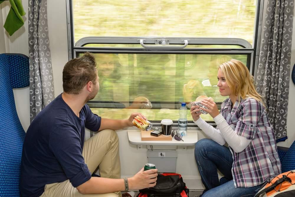 train journey eating