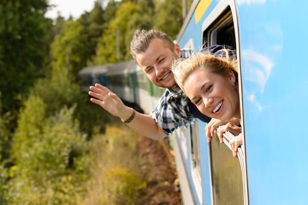 train journey friends