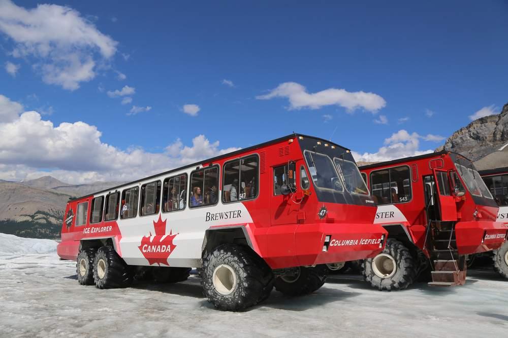 transportation-glacier bus