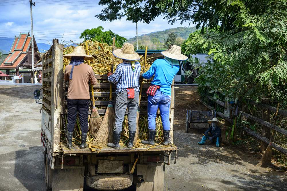 Truck & workers, Chiang Mai Thailand