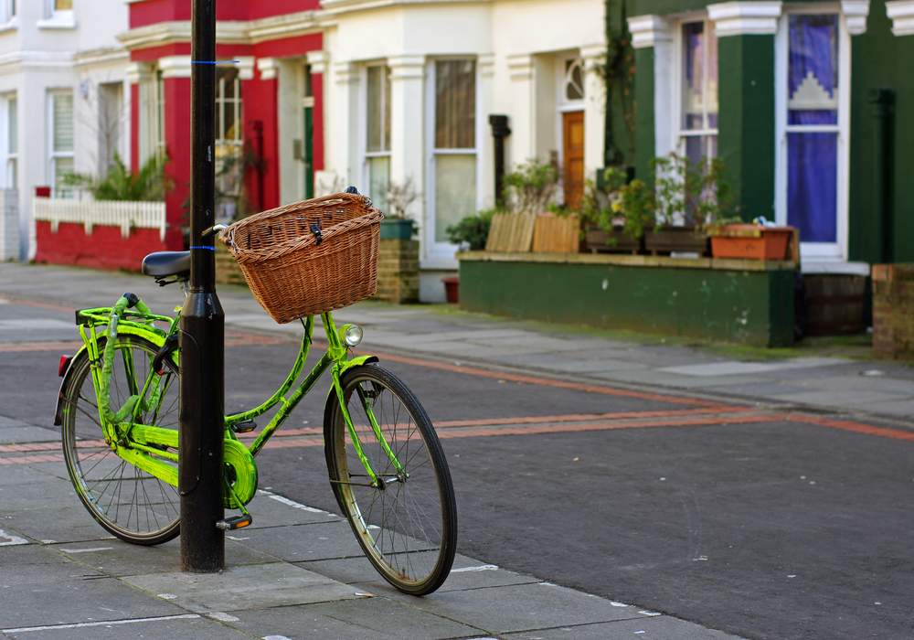 Cycle in London Neighborhood