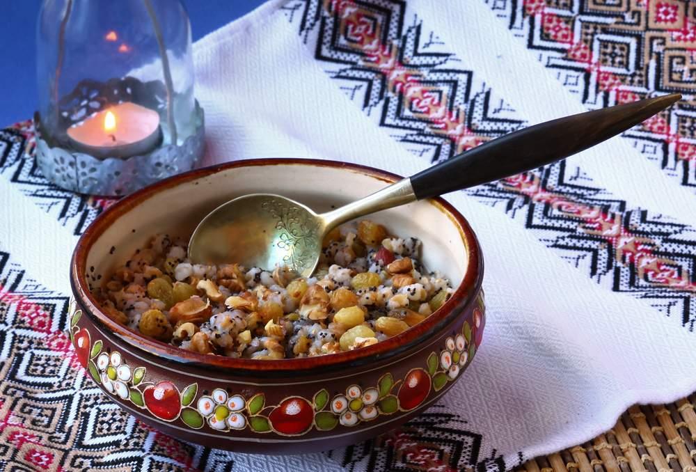 Traditional Ukranian Christmas food kutya