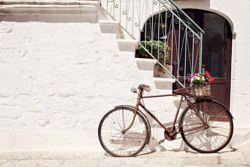 bike in the Mediterranean