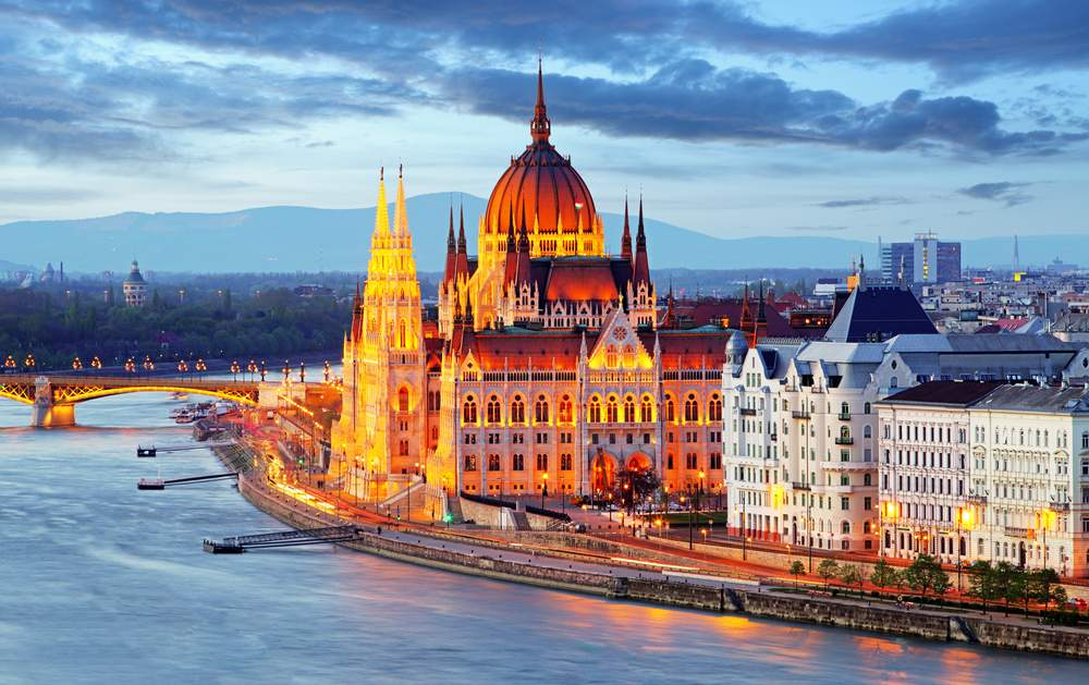 Buildings on the Danube, Budapest, Hungary