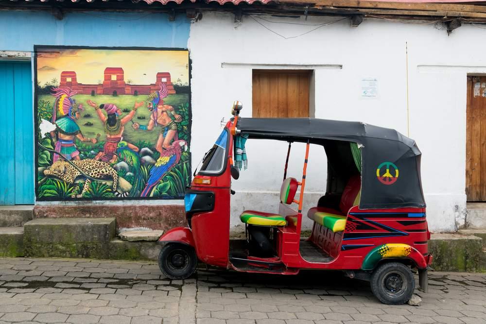 tuk-tuk taxi in Guatemala