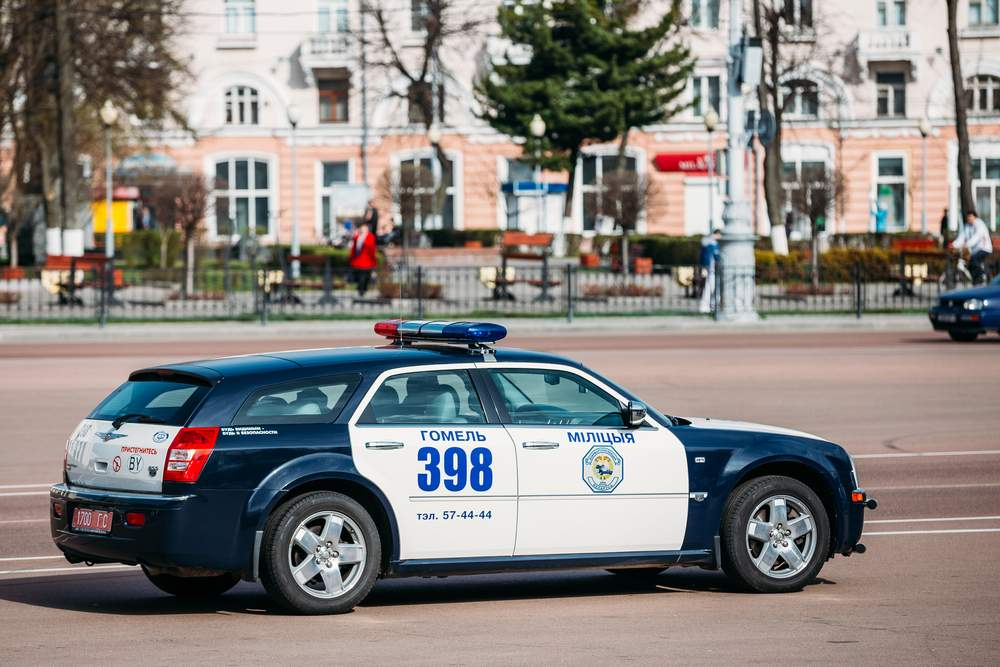 police car, belarus