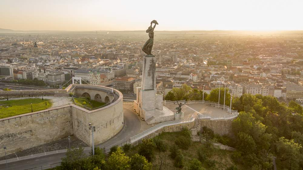 Budapest Hungary View from Hills