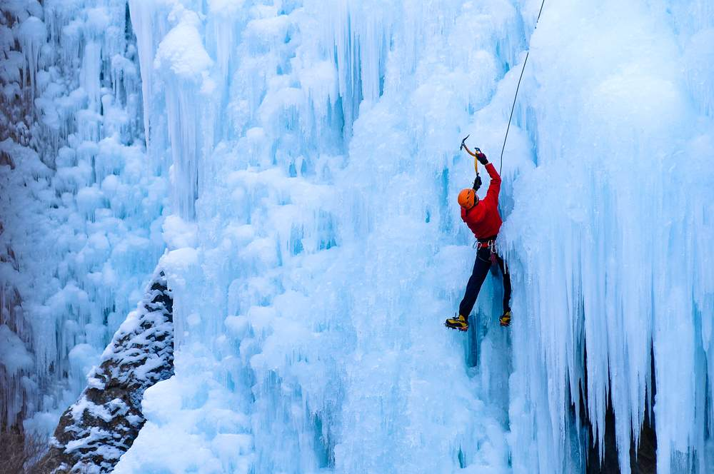 Dangerous travel activities like ice-climbing make even winter a thrill