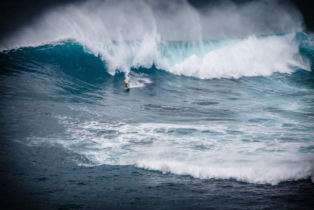 Hawaii's famous wave break for the surf of a lifetime
