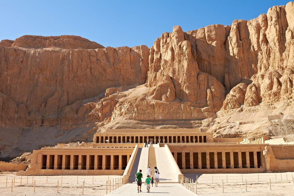 pyramids and monuments at Luxor
