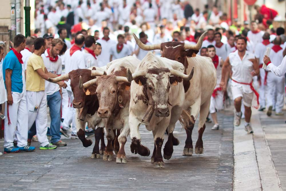 running with the bulls is the dangerous travel activity of a live time