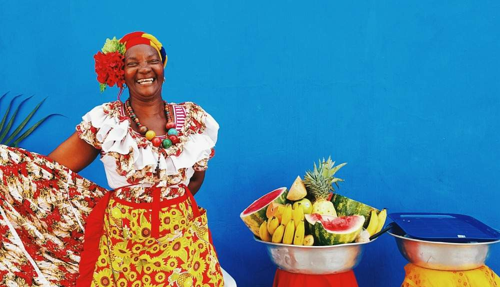 Fruit-seller in Colombia