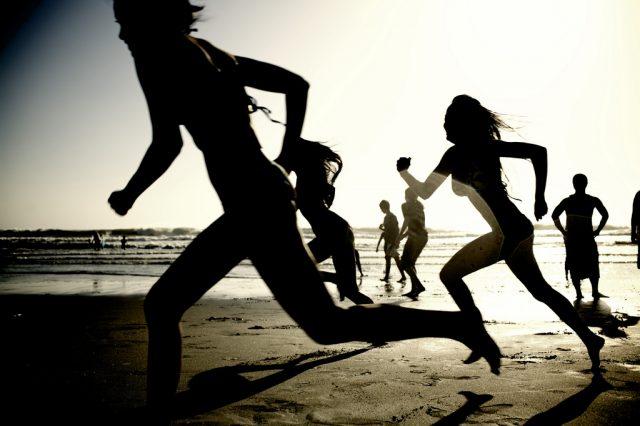 Girls running on the beach Mark J. Sebastian   www.markjsebastian.com